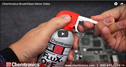Spot Cleaning Flux Residues Using BrushClean™ System