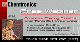 Picture of Conformal Coating Defects: When Things Go Horribly Wrong